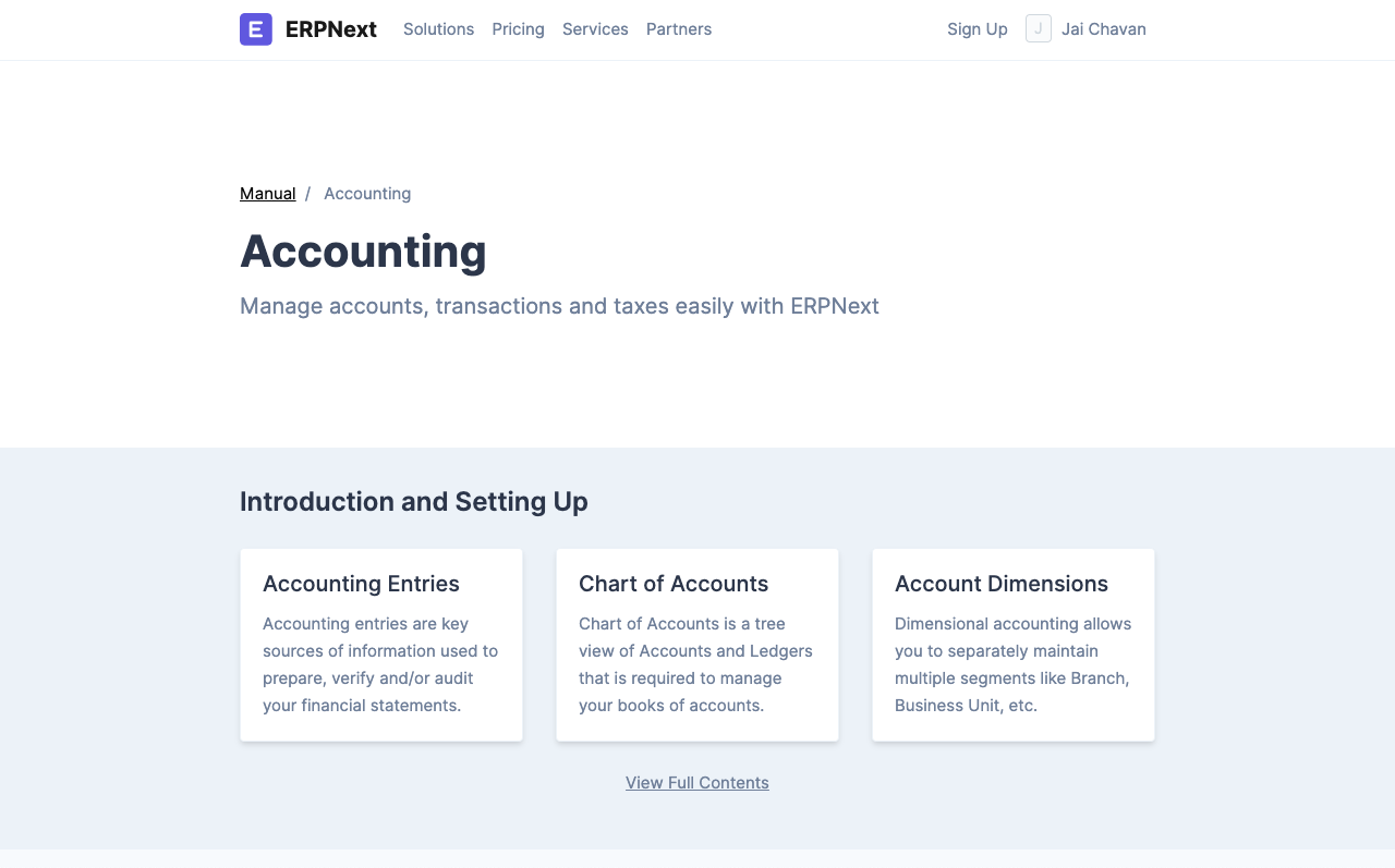 online accounting system - documentation