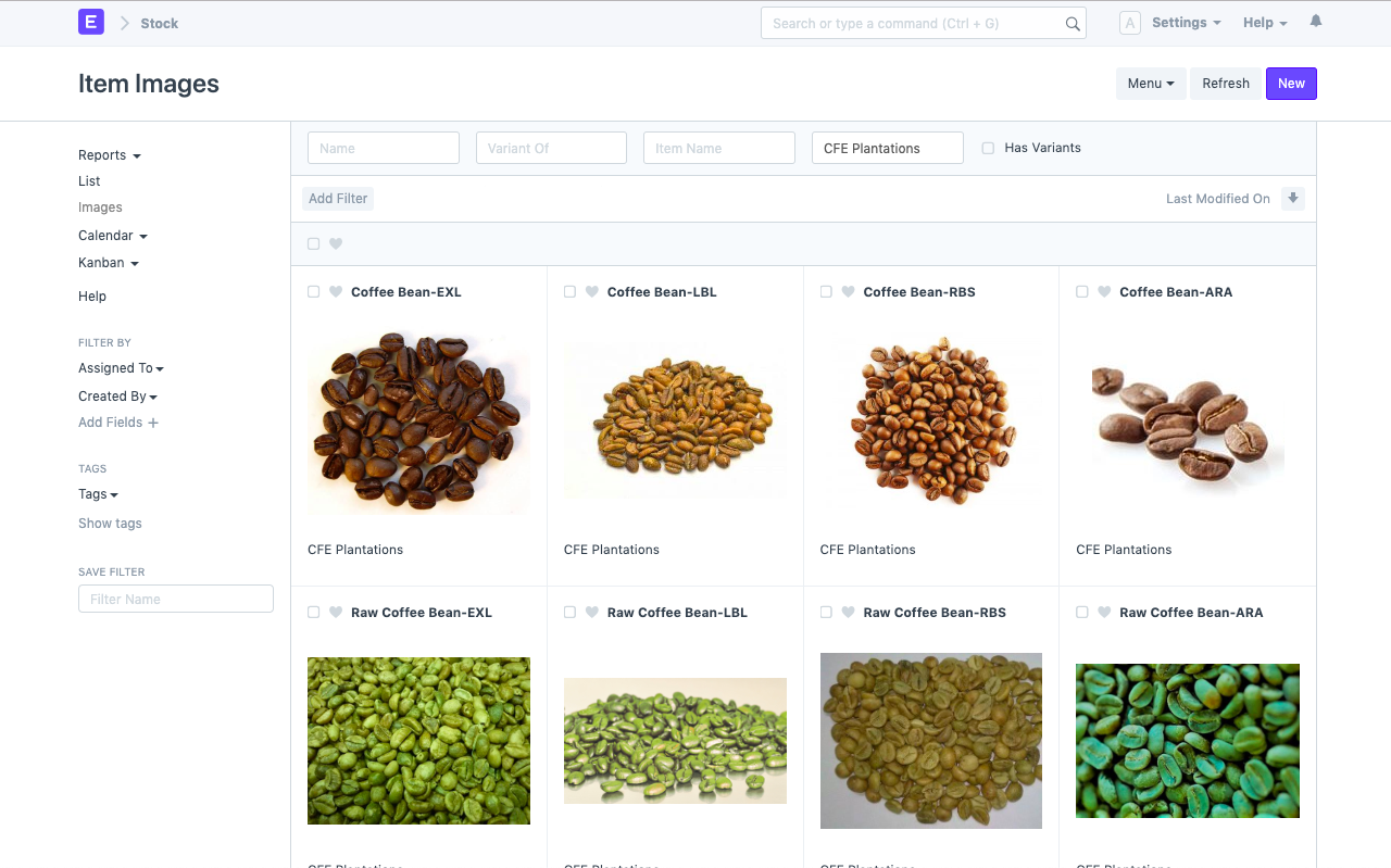 Open Source Food Manufacturing Software - Item Variants
