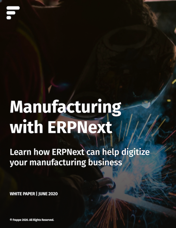 Manufacturing with ERPNext