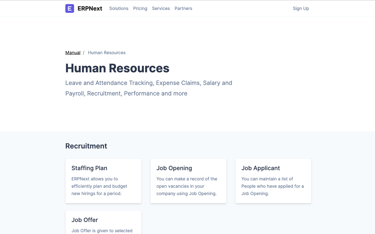 Open Source Employee Management Software - ERPNext Documentation